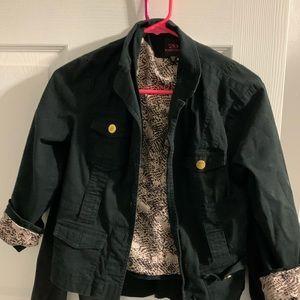 Bebe jacket with inner leopard print